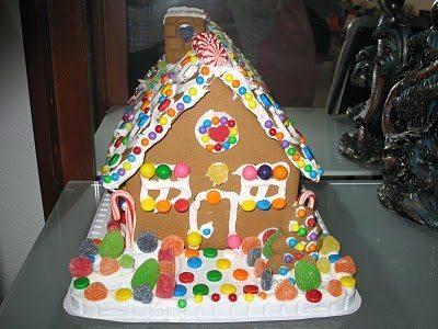 Dulces navide os casa de jengibre navidad for Casa jengibre