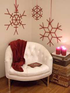 Copos de Navidad gigantes en tu salón 17