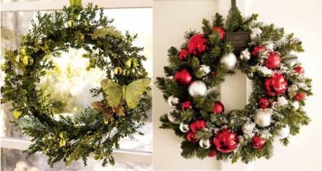 Decora tu puerta con coronas navideñas 9
