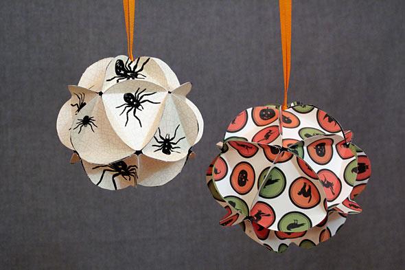 Decora con esferas de papel idea aclaratoria navidad - Adornos de navidad con papel ...
