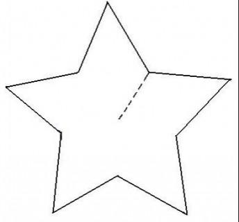 Sencillas estrellas de cartón en tres dimensiones 6