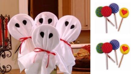 Piruletas de fantasma para Halloween 3