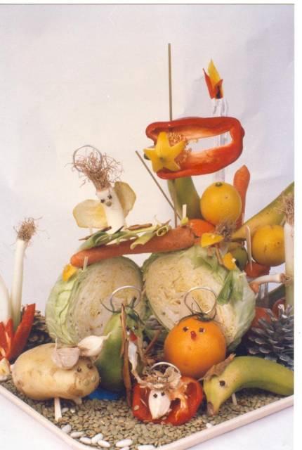 Portales de belén - frutas y verduras