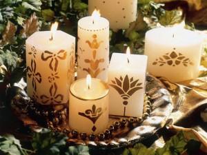 velas pintadas a mano