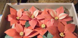 flores pascua papel