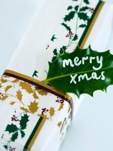 hojas para los regalos