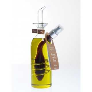 Vinagrera aceite de oliva virgen extra antigoteo y pulverizador de vinagre