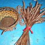 cesta para crear arbol navidad