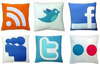 cojines redes sociales