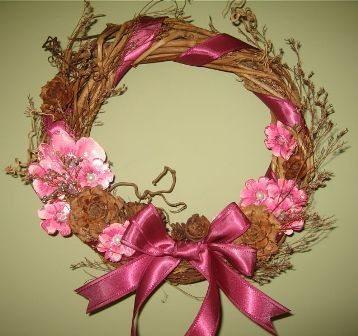 Coronas navide as navidad for Como hacer una corona de navidad para la puerta