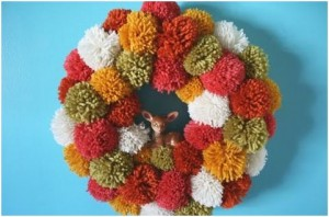 corona de pompones