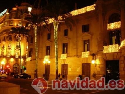 Decoración navideña ayuntamiento de Valencia