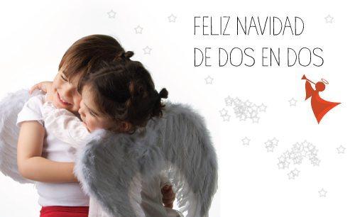 Felicitación navideña de Tot a Lot, productos para gemelos