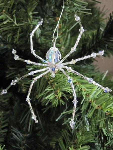 arañas de navidad