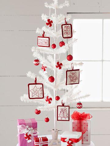 Cubre la Navidad de Rojo y Blanco 6