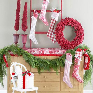 Cubre la Navidad de Rojo y Blanco 5