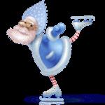Icono Santa azul patinador