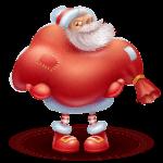 Icono Santa cargado de regalos