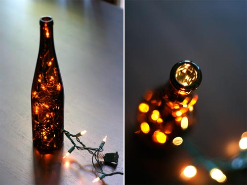 botella de luces