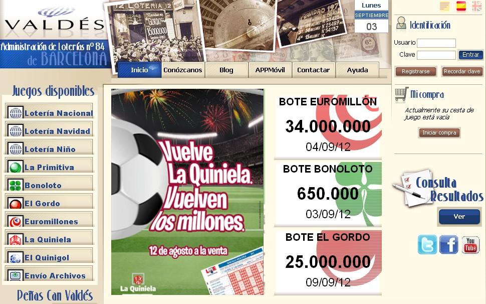 loteria valdes para navidad