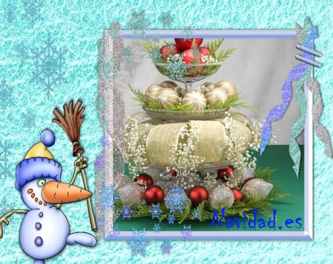 Centro de mesa navide o con esferas navide as navidad for Centros navidad para mesa