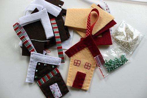 decoraciones navideñas con fieltro