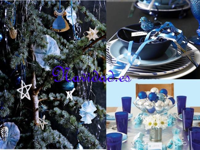 Decoración navideña en azul 3