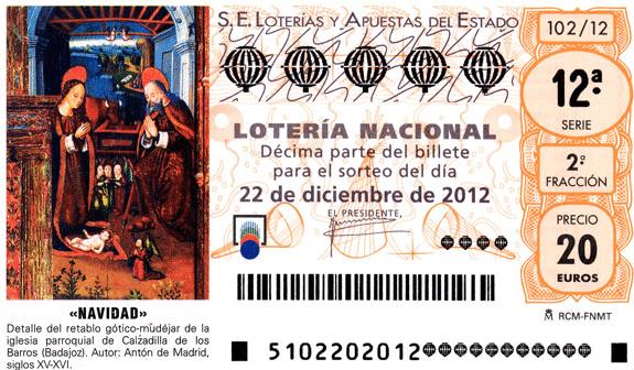 Colegio Andolina. Lotería Navidad 2012