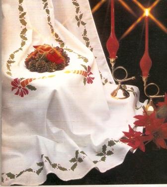 Navidad. Estencil en tus manteles