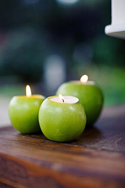 Navidad, Manzanas y velas 3