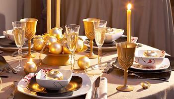 Decora tu mesa en Navidad