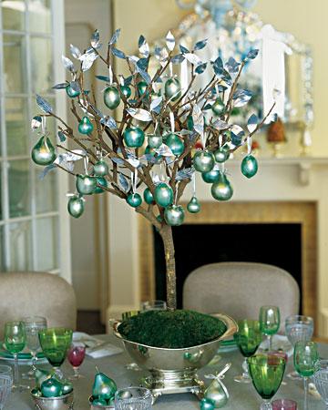 arbol mesa navideña