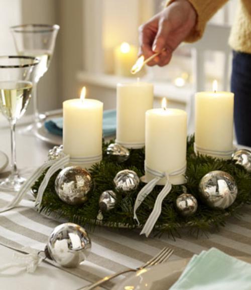Navidad Decoracion Mesa ~   pi?as o frutos secos  dar? un toque muy especial a nuestras mesas