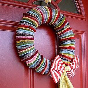 Sin gluten navidad reciclando i coronas - Decoracion de navidad manualidades faciles ...