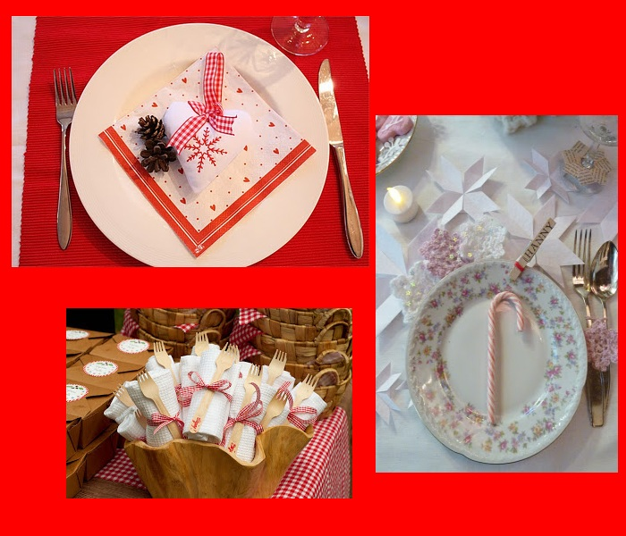 decoracion mesa navideña