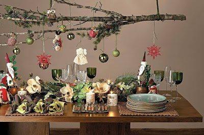 decorar con árbol navideño horizontal