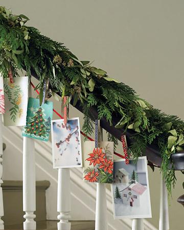 decorar escaleras con tarjetas