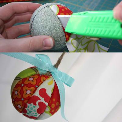hay muchas tcnicas y maneras para hacer nuestros propios adornos navideos esta es una ms as tendrs otra idea para realizar en navidades