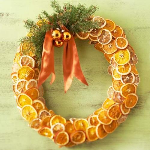 Naranjas secas como corona 3