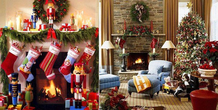 decoracion de chimeneas para Navidad 1 - mismo estilo