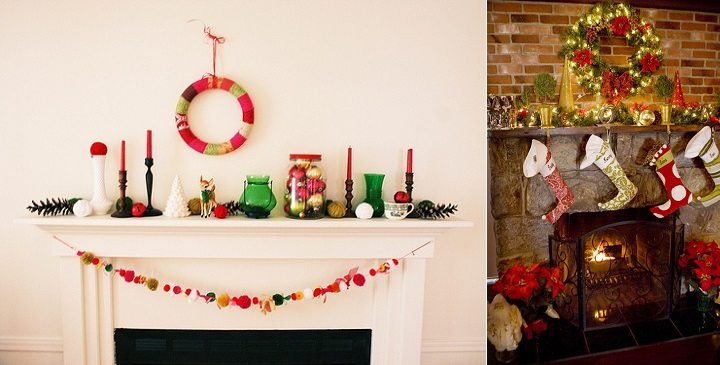 decoracion de chimeneas para Navidad 3 - luz