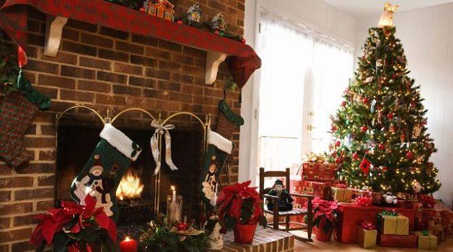 decoracion de chimeneas para Navidad 4 - chimenea con belenes