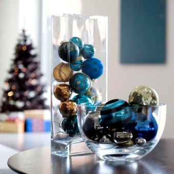 Decora con jarrones de vidrio navidad - Decoracion de jarrones de cristal ...