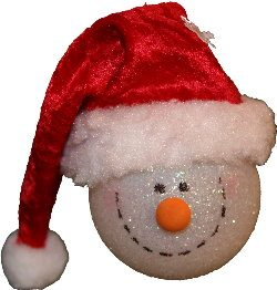Muñeco de Nieve navideño 3