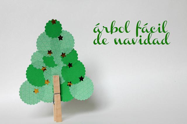 Rbol navide o reciclado navidad - Decoracion navidena para ninos ...