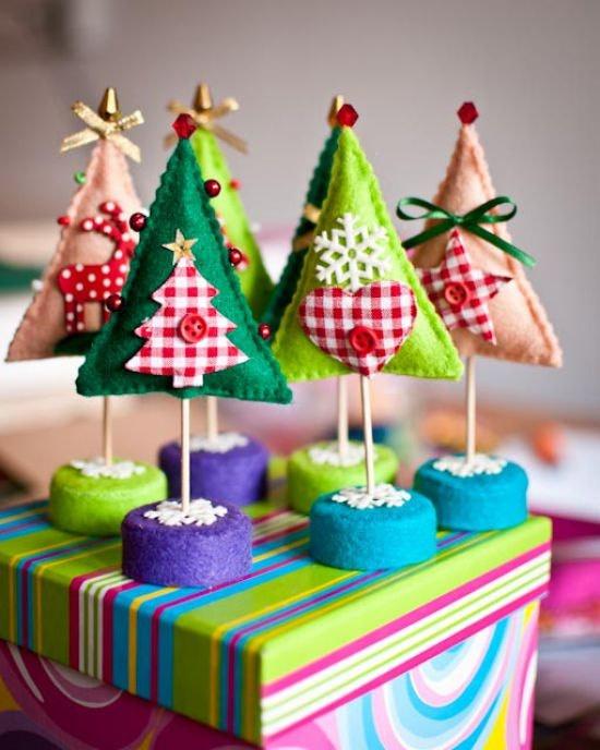 Manualidades navide as en fieltro rboles de mesa navidad - Arboles de navidad manualidades navidenas ...