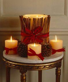 Decoraci n navide a para el sal n navidad for Decoracion hogar navidad 2014