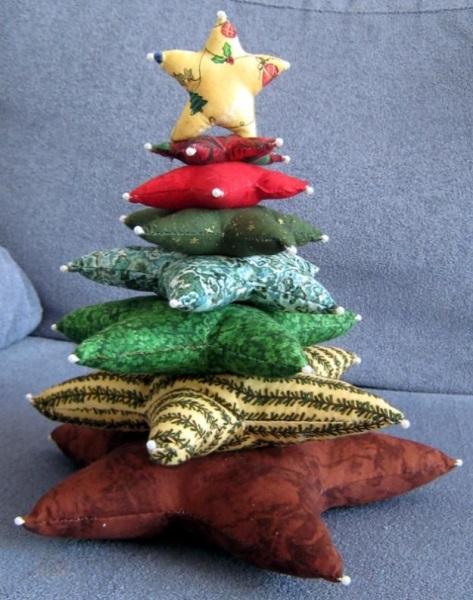 arbol navideño con cojines