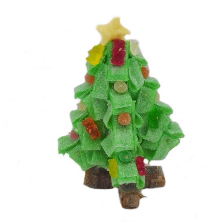 decorar con golosinas - árbol de navidad