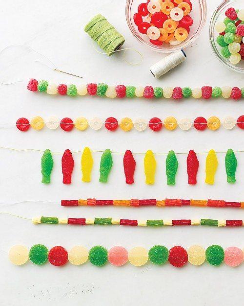 decorar con golosinas - guirnaldas para comer